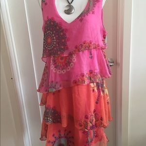 Desigual Colorful Tiered Sundress - 42 (L)